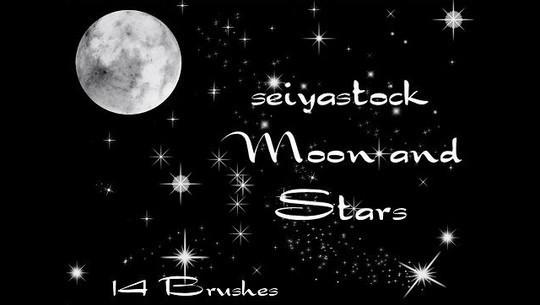 15 Amazing Free Moon And Stars Photoshop Brushes 2