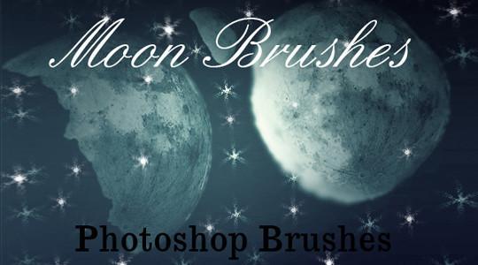 15 Amazing Free Moon And Stars Photoshop Brushes 14