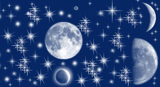 15 Amazing Free Moon And Stars Photoshop Brushes 15