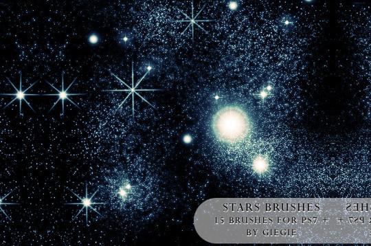 15 Amazing Free Moon And Stars Photoshop Brushes 7