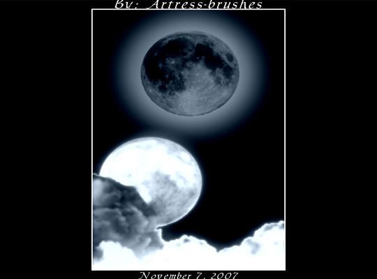 15 Amazing Free Moon And Stars Photoshop Brushes 11