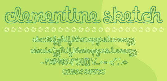 7 Beautiful Free Outlined Fonts 7