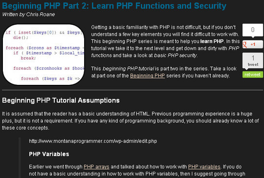 20 Useful PHP Tutorials For Beginners 14