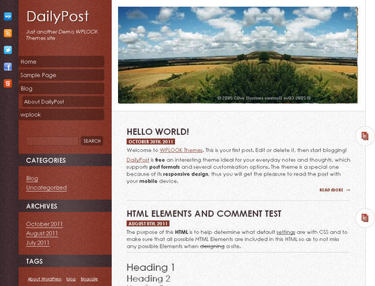 40 Free High Quality Responsive WordPress Themes For Your Blogs 16