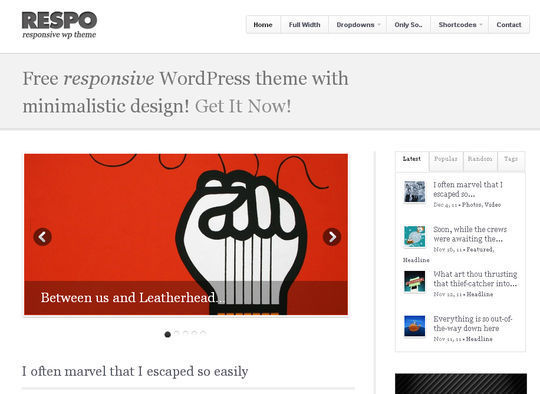 40 Free High Quality Responsive WordPress Themes For Your Blogs 21