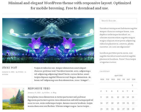 40 Free High Quality Responsive WordPress Themes For Your Blogs 33