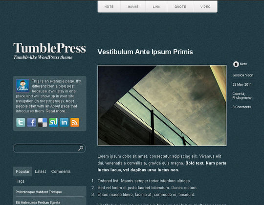 40 Free High Quality Responsive WordPress Themes For Your Blogs 38