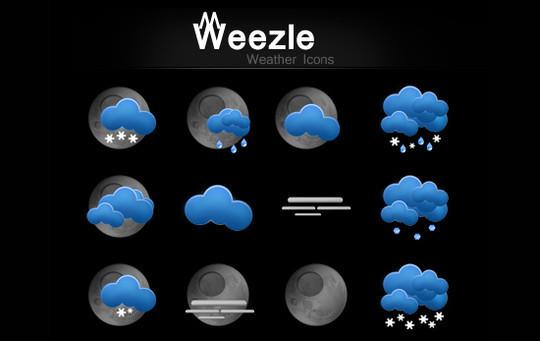 40 Free Weather Forecast Icon Sets 3