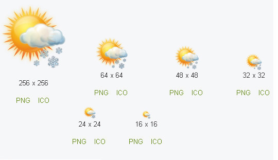 40 Free Weather Forecast Icon Sets 16