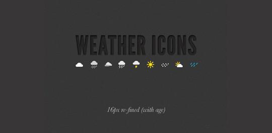40 Free Weather Forecast Icon Sets 19