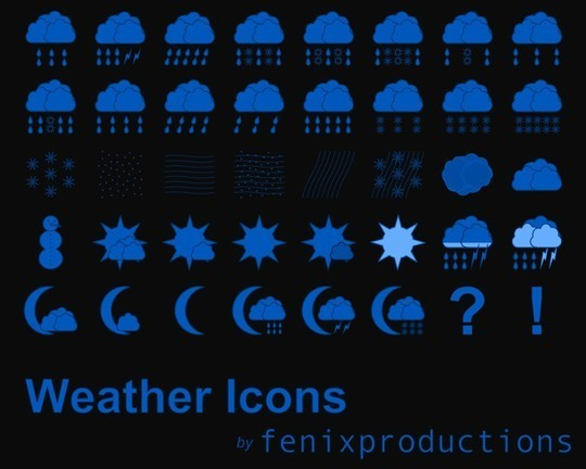 40 Free Weather Forecast Icon Sets 20