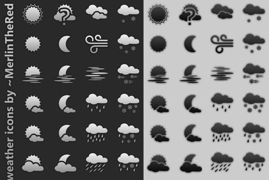 40 Free Weather Forecast Icon Sets 21