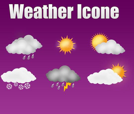 40 Free Weather Forecast Icon Sets 22