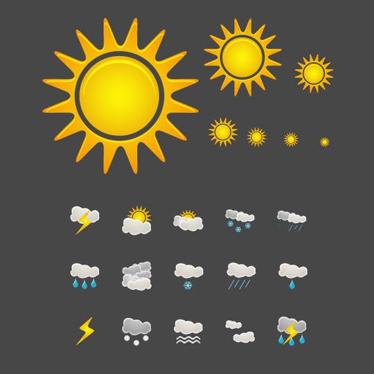 40 Free Weather Forecast Icon Sets 23