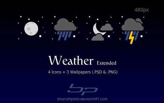 40 Free Weather Forecast Icon Sets 26