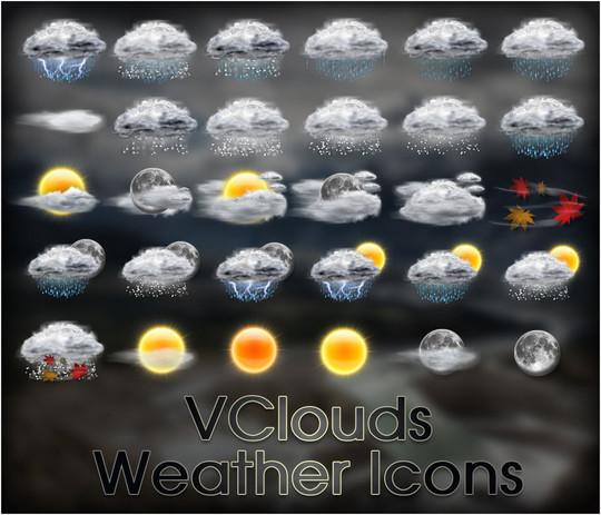 40 Free Weather Forecast Icon Sets 7