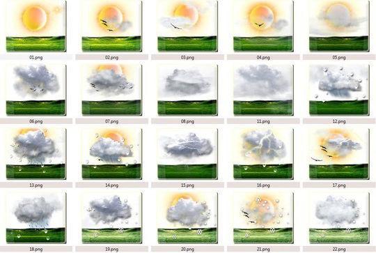40 Free Weather Forecast Icon Sets 28