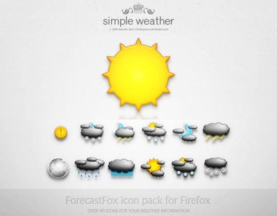 40 Free Weather Forecast Icon Sets 29