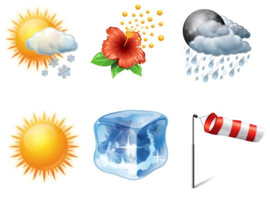 40 Free Weather Forecast Icon Sets 31