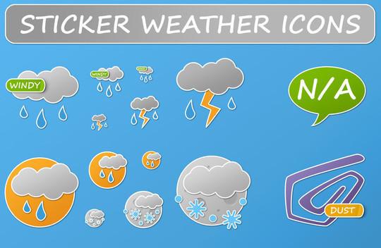 40 Free Weather Forecast Icon Sets 34