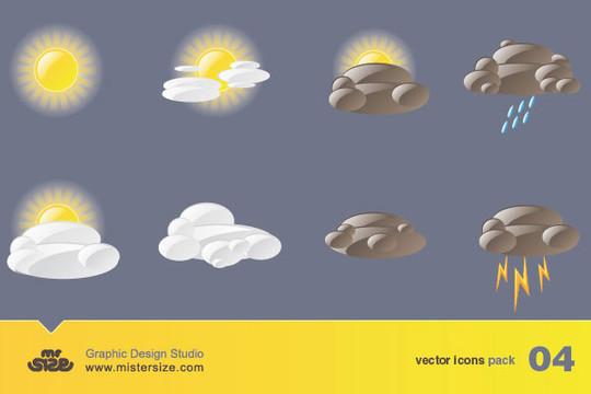 40 Free Weather Forecast Icon Sets 35