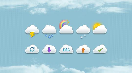40 Free Weather Forecast Icon Sets 36