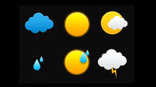 40 Free Weather Forecast Icon Sets 37