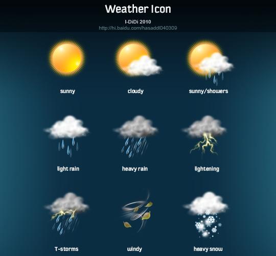 40 Free Weather Forecast Icon Sets 38