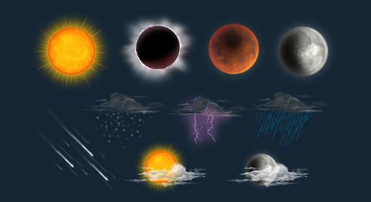 40 Free Weather Forecast Icon Sets 39