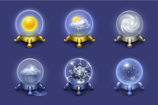 40 Free Weather Forecast Icon Sets 2