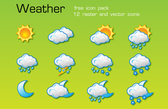 40 Free Weather Forecast Icon Sets 4