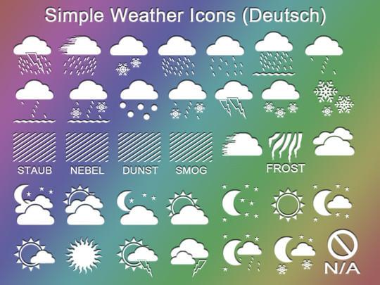 40 Free Weather Forecast Icon Sets 13