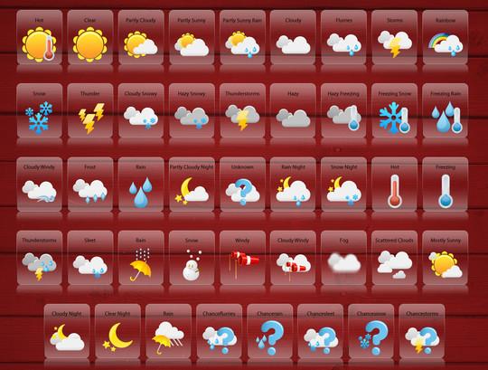 40 Free Weather Forecast Icon Sets 14