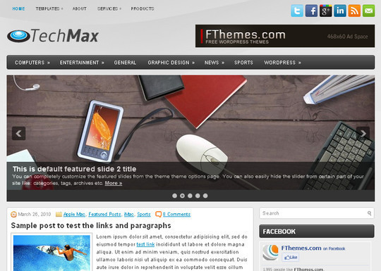 40+ Free Premium Quality WordPress Themes For Your Blog 10