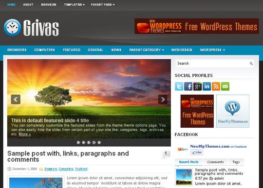 40+ Free Premium Quality WordPress Themes For Your Blog 21