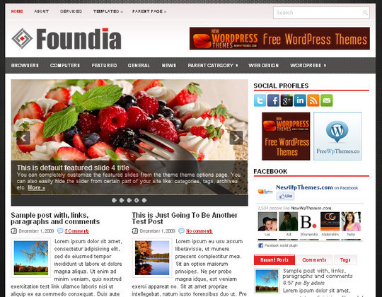 40+ Free Premium Quality WordPress Themes For Your Blog 5