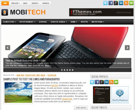 40+ Free Premium Quality WordPress Themes For Your Blog 6