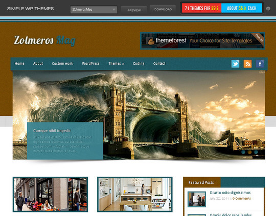 40+ Free Premium Quality WordPress Themes For Your Blog 38