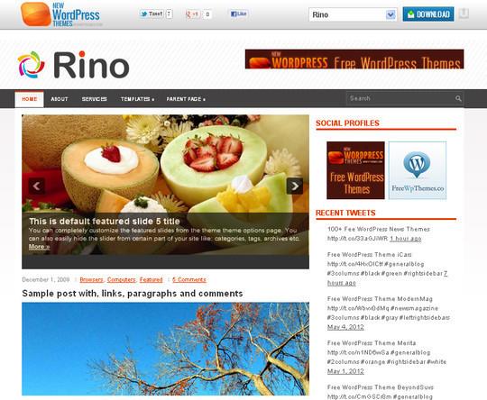 40+ Free Premium Quality WordPress Themes For Your Blog 44