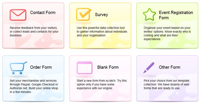 5 Most Important Web Forms and How to Build Them With a Single App 1