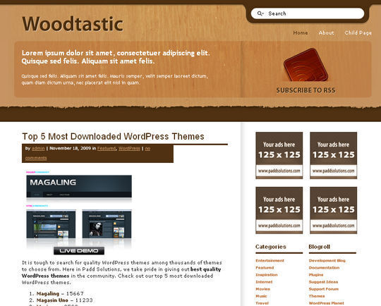 40 Excellent 3 Column WordPress Themes For Free Download 20