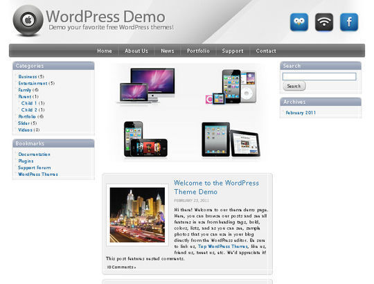 40 Excellent 3 Column WordPress Themes For Free Download 27