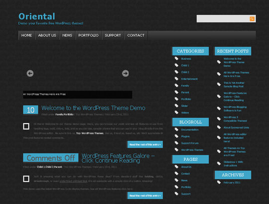 40 Excellent 3 Column WordPress Themes For Free Download 31