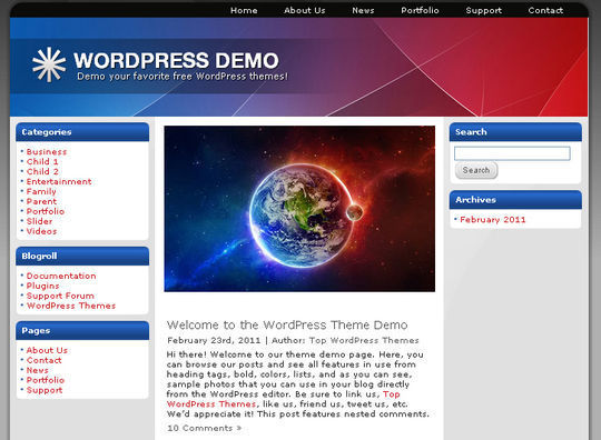 40 Excellent 3 Column WordPress Themes For Free Download 32