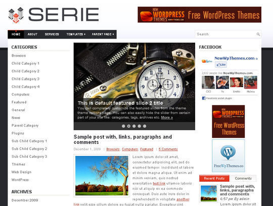 40 Excellent 3 Column WordPress Themes For Free Download 36
