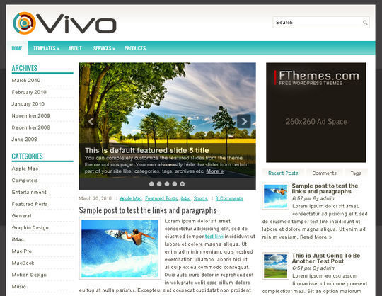40 Excellent 3 Column WordPress Themes For Free Download 29