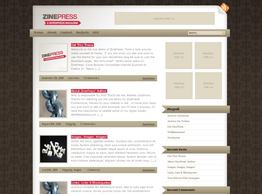 40 Excellent 3 Column WordPress Themes For Free Download 6
