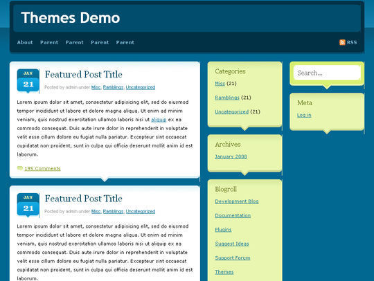 40 Excellent 3 Column WordPress Themes For Free Download 13