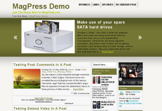 40 Excellent 3 Column WordPress Themes For Free Download 14
