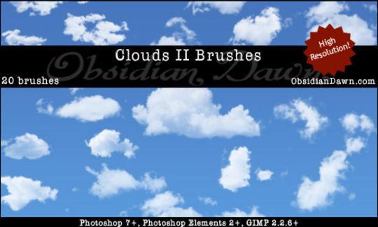18 Free Cloud Photoshop Brushes 14
